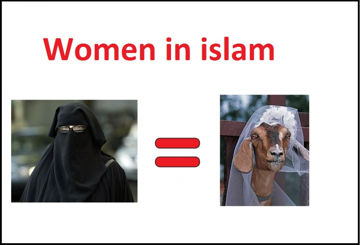Woman in Islam is equal to a goat